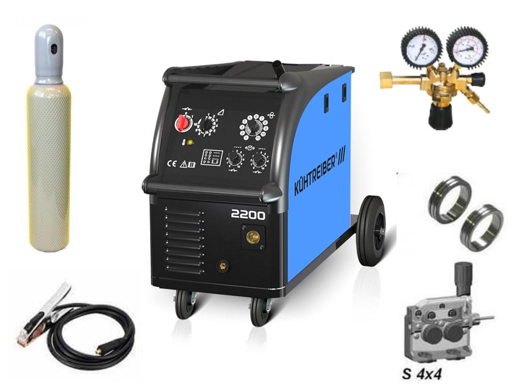 KIT 2200 Varianta: SET 21: svářečka s výbavou v popisu stroje + RV CO2 + lahev CO2 plná výhodný SET - další příslušenství ZDARMA