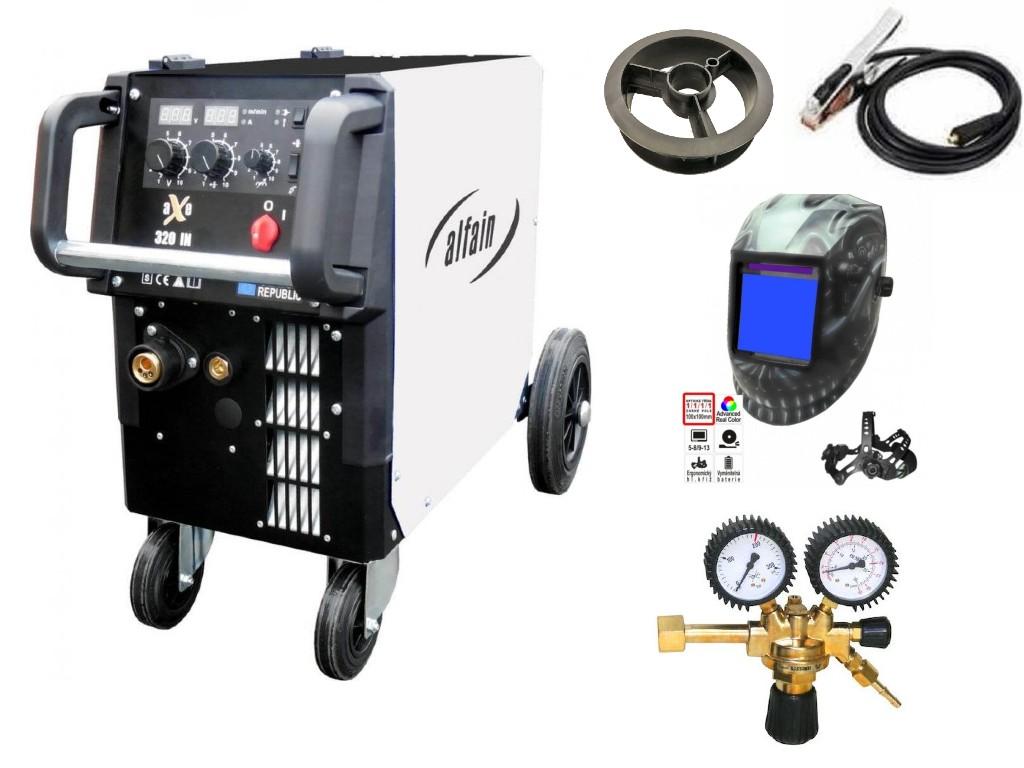aXe 320 IN MIG MAN-4 Varianta: SET 10: svářečka s výbavou v popisu stroje + RV CO2 + kukla profi Predátor výhodný SET - další příslušenství ZDARMA