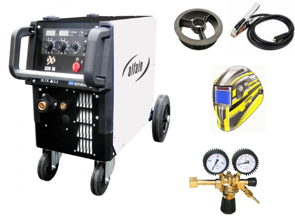 aXe 320 IN MIG MAN-4 Varianta: SET 12: svářečka s výbavou v popisu stroje + RV CO2 + kukla expert 730ARC++ výhodný SET - další příslušenství ZDARMA