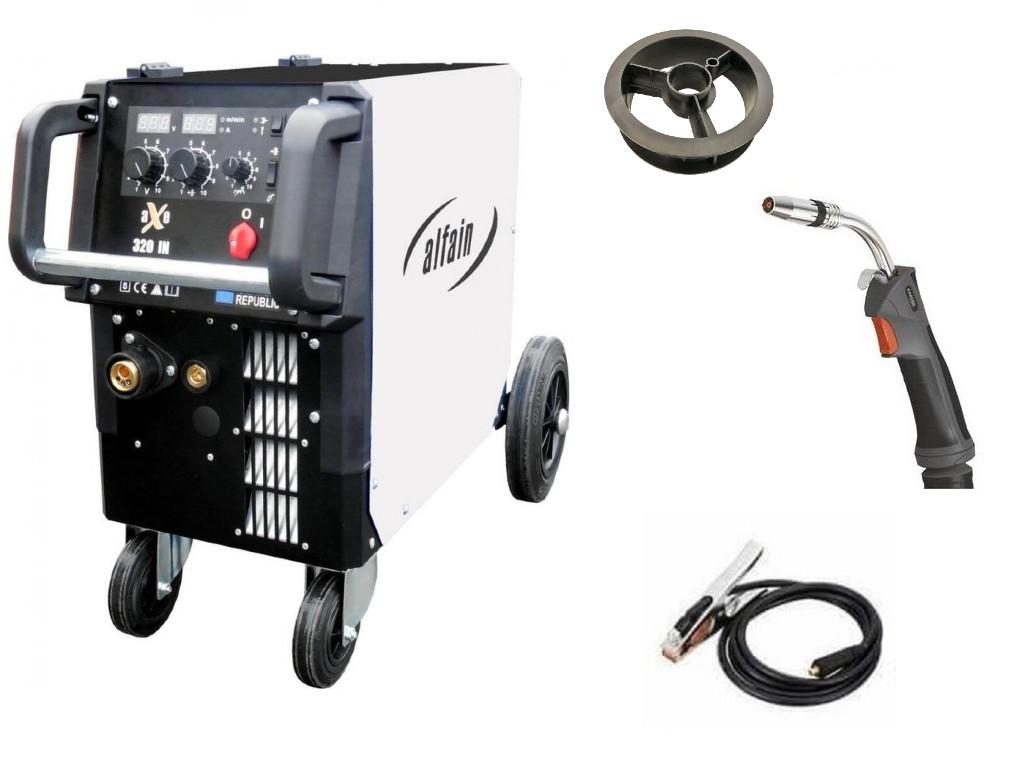aXe 320 IN MIG MAN-4 Varianta: SET 18: svářečka s výbavou v popisu stroje + hořák CO2 výhodný SET - další příslušenství ZDARMA