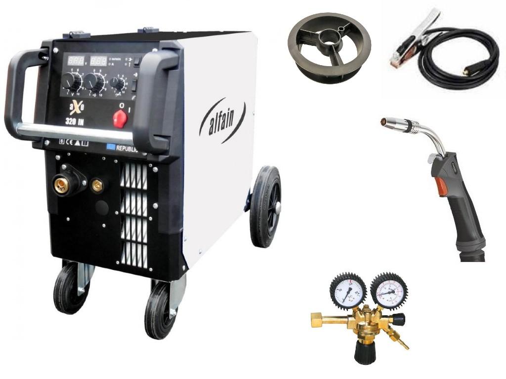 aXe 320 IN MIG MAN-4 Varianta: SET 19: svářečka s výbavou v popisu stroje + hořák CO2 + RV CO2 výhodný SET - další příslušenství ZDARMA