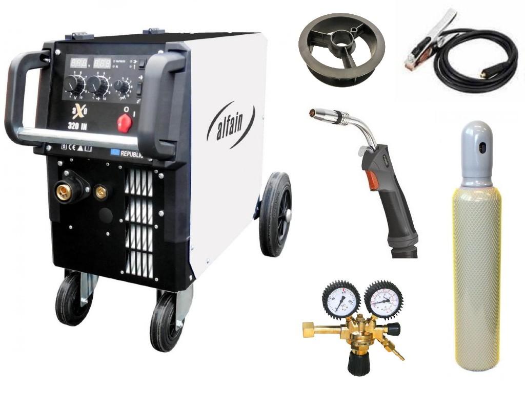 aXe 320 IN MIG MAN-4 Varianta: SET 20: svářečka s výbavou v popisu stroje + hořák CO2 + RV CO2 + lahev CO2 plná výhodný SET - další příslušenství ZDARMA