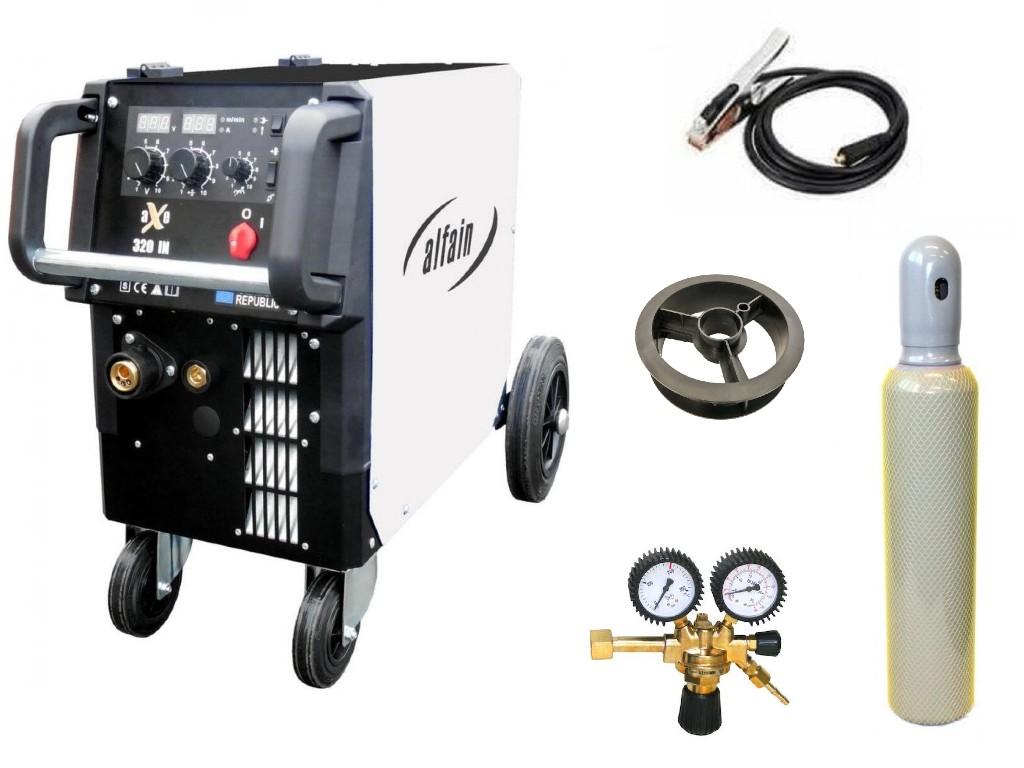 aXe 320 IN MIG MAN-4 Varianta: SET 21: svářečka s výbavou v popisu stroje + RV CO2 + lahev CO2 plná výhodný SET - další příslušenství ZDARMA