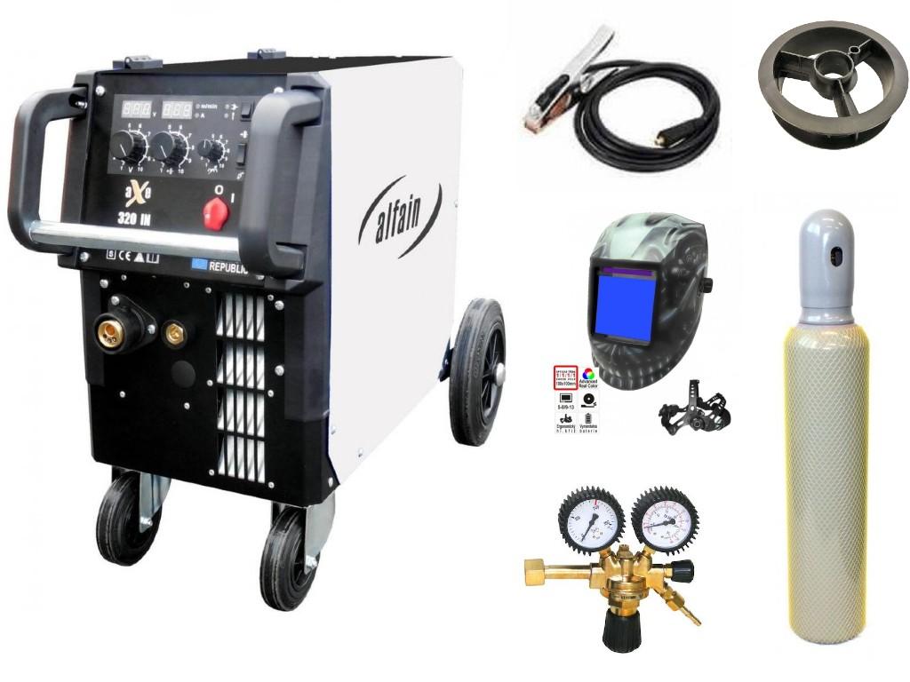 aXe 320 IN MIG MAN-4 Varianta: SET 22: svářečka s výbavou v popisu stroje + kukla profi Predátor + RV CO2 + lahev CO2 plná výhodný SET - další příslušenství ZDARMA