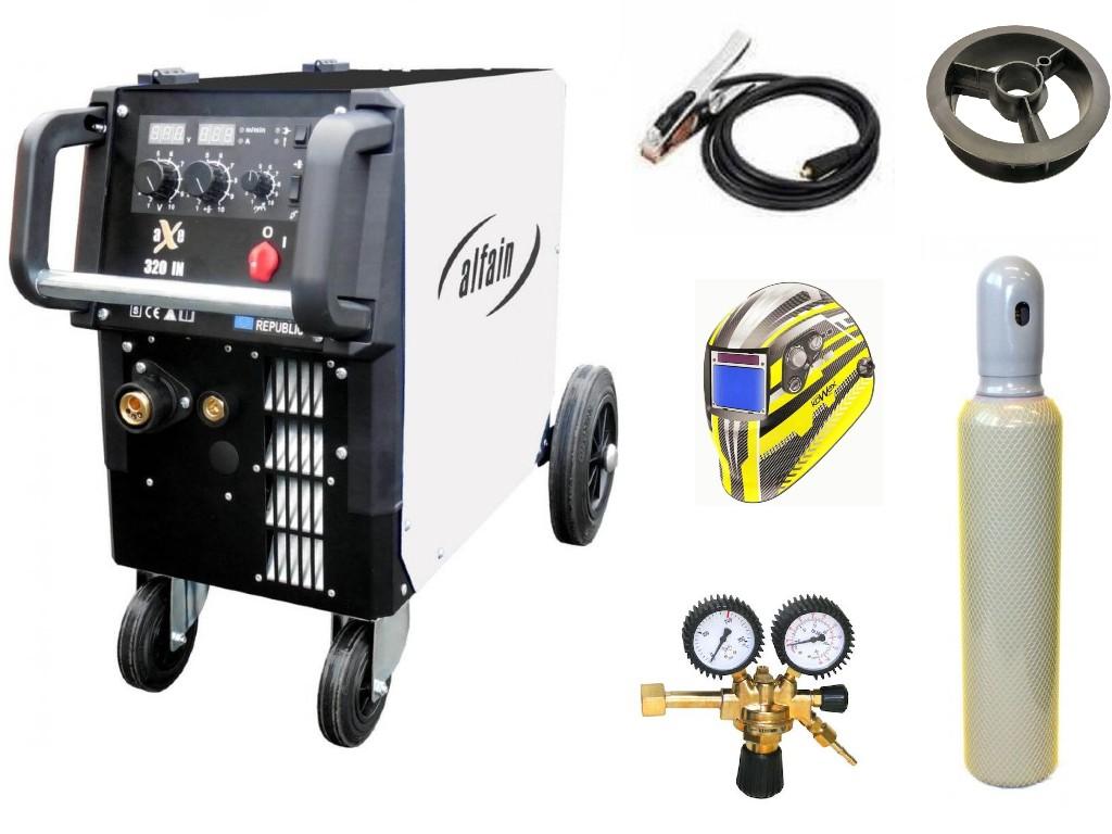aXe 320 IN MIG MAN-4 Varianta: SET 23: svářečka s výbavou v popisu stroje + kukla expert + RV CO2 + lahev CO2 plná výhodný SET - další příslušenství ZDARMA