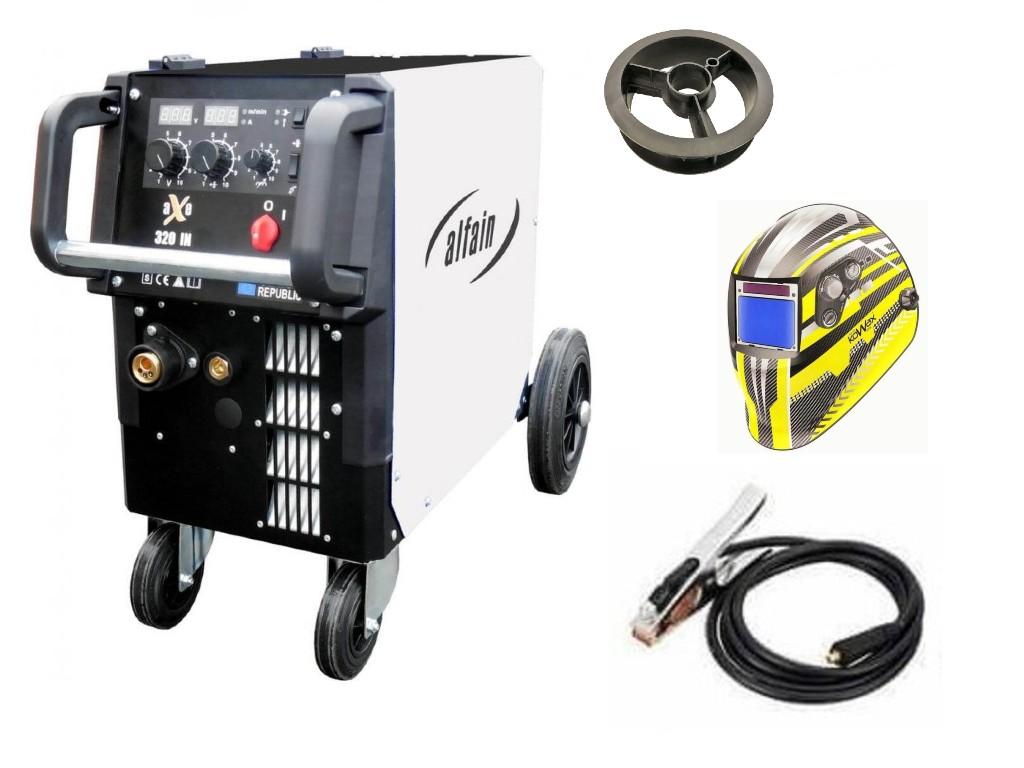 aXe 320 IN MIG MAN-4 Varianta: SET 5: svářečka s výbavou v popisu stroje + kukla expert 730ARC++ výhodný SET - další příslušenství ZDARMA
