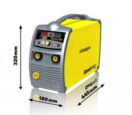 Svářečka na CO2 KOWAX GeniMig 220 včetně hořáku KWXSTGM220 Hořák a kabely ZDARMA