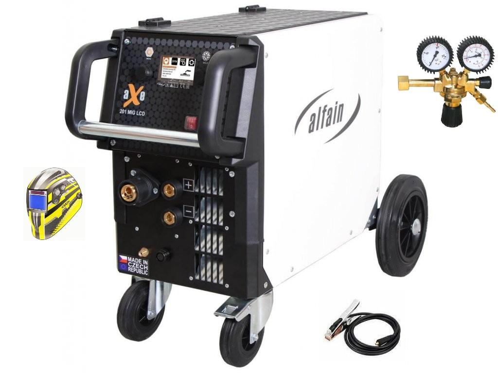 aXe 201 MIG LCD Synergy Varianta: SET 12: svářečka s výbavou v popisu stroje + RV CO2 + kukla expert 730ARC++ 5.0318/SET12 výhodný SET - další příslušenství ZDARMA