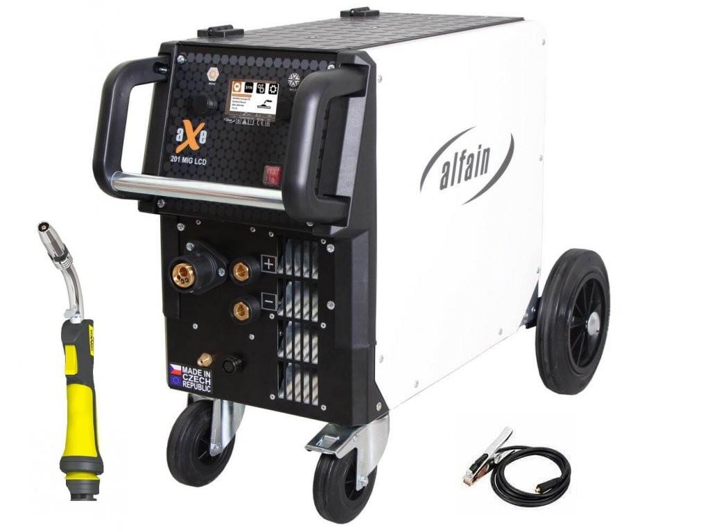 aXe 201 MIG LCD Synergy Varianta: SET 18: svářečka s výbavou v popisu stroje + hořák CO2 5.0318/SET18 výhodný SET - další příslušenství ZDARMA