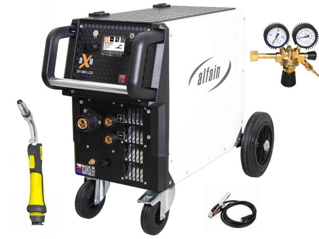 aXe 201 MIG LCD Synergy Varianta: SET 19: svářečka s výbavou v popisu stroje + hořák CO2 + RV CO2 5.0318/SET19 výhodný SET - další příslušenství ZDARMA