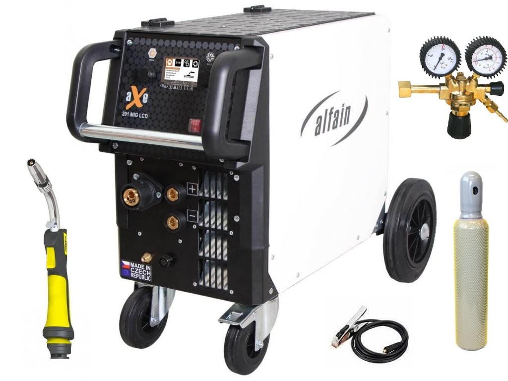 aXe 201 MIG LCD Synergy Varianta: SET 20: svářečka s výbavou v popisu stroje + hořák CO2 + RV CO2 + lahev CO2 plná 5.0318/SET20 výhodný SET - další příslušenství ZDARMA