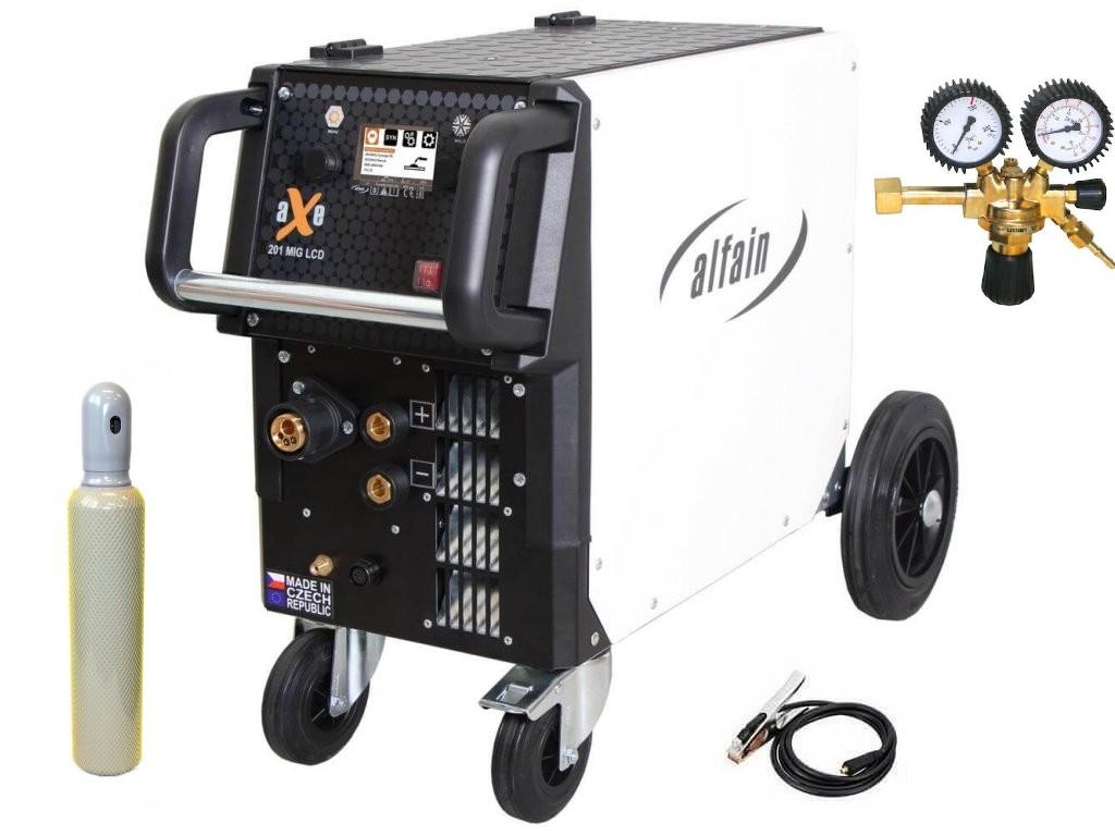 aXe 201 MIG LCD Synergy Varianta: SET 21: svářečka s výbavou v popisu stroje + RV CO2 + lahev CO2 plná 5.0318 výhodný SET - další příslušenství ZDARMA