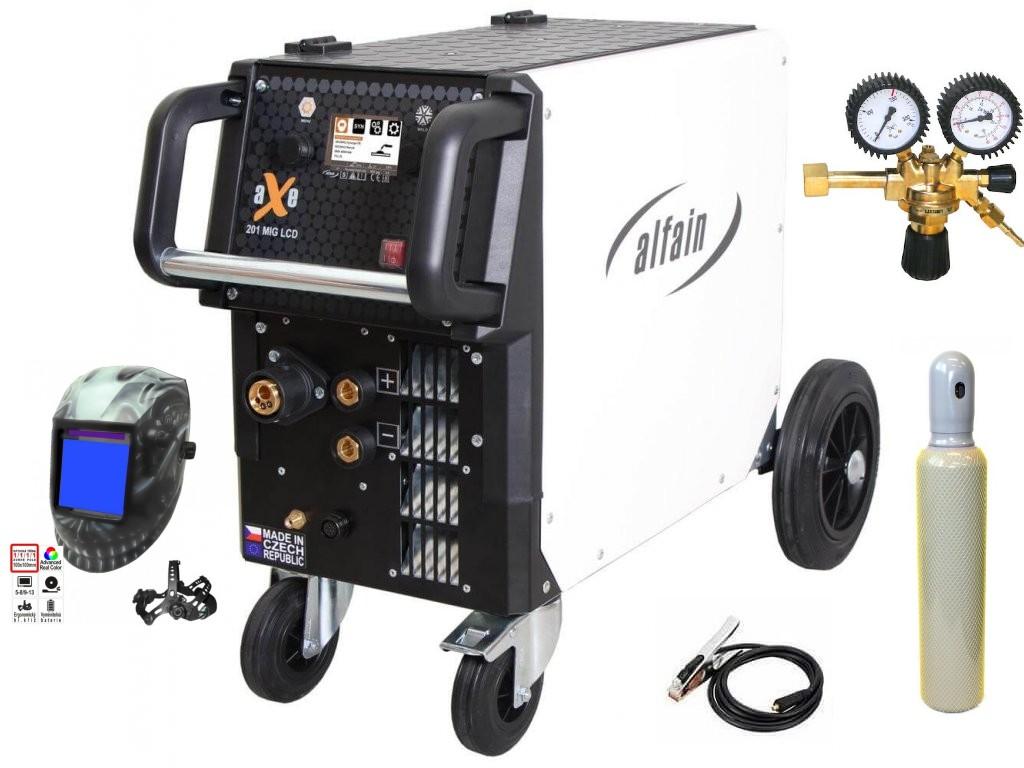 aXe 201 MIG LCD Synergy Varianta: SET 22: svářečka s výbavou v popisu stroje + kukla profi Predátor + RV CO2 + lahev CO2 plná 5.0318/SET22 výhodný SET - další příslušenství ZDARMA