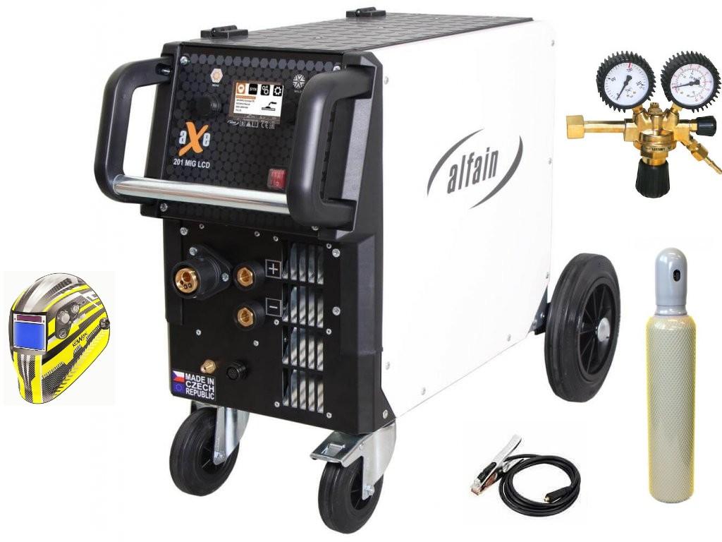 aXe 201 MIG LCD Synergy Varianta: SET 23: svářečka s výbavou v popisu stroje + kukla expert + RV CO2 + lahev CO2 plná 5.0318/SET23 výhodný SET - další příslušenství ZDARMA