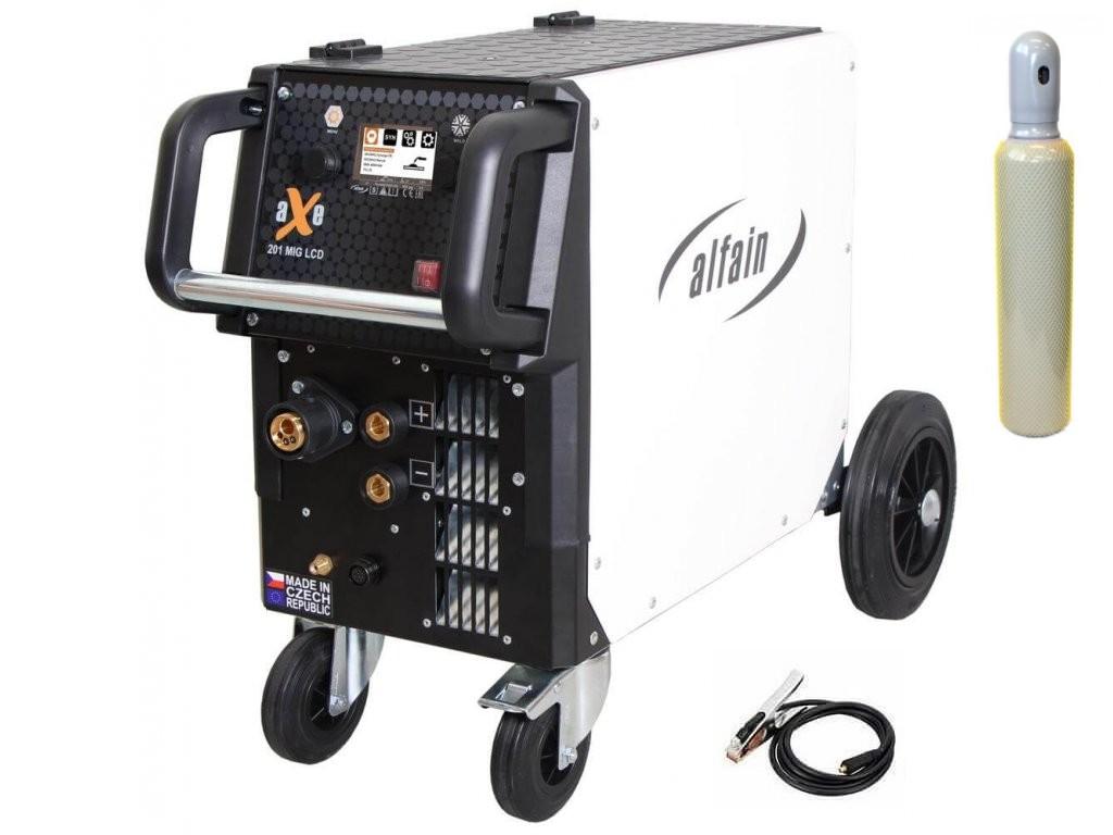 aXe 201 MIG LCD Synergy Varianta: SET 14: svářečka s výbavou v popisu stroje + lahev CO2 plná 5.0318/SET14 výhodný SET - další příslušenství ZDARMA