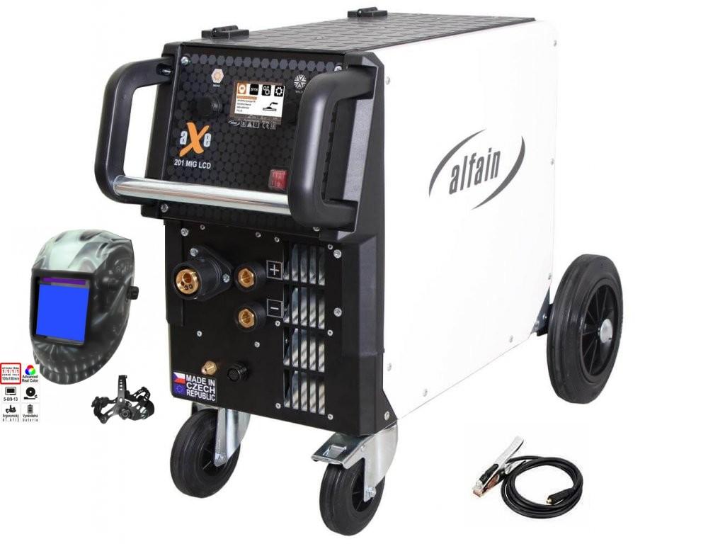 aXe 201 MIG LCD Synergy Varianta: SET 2: svářečka s výbavou v popisu stroje + kukla profi Predátor 5.0318/SET2 výhodný SET - další příslušenství ZDARMA