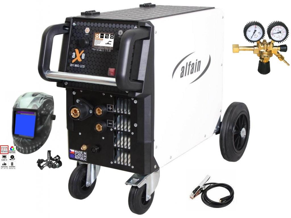 aXe 201 MIG LCD Synergy Varianta: SET 10: svářečka s výbavou v popisu stroje + RV CO2 + kukla profi Predátor 5.0318/SET10 výhodný SET - další příslušenství ZDARMA