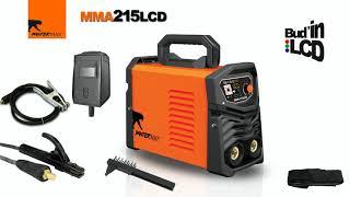 Invertor pro svařování PanterMax 215 LCD pro MMA a TIG PMMMA215LCD Kabely ZDARMA, elektrodová a TIG svářečka