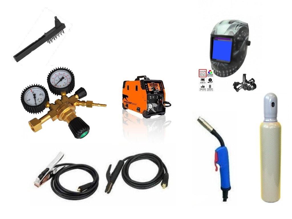 Pantermax 220 Varianta: SET 8: svářečka s výbavou v popisu stroje + RV CO2 + kukla eco Panter PMMIG220/SET8 výhodný SET - další příslušenství ZDARMA