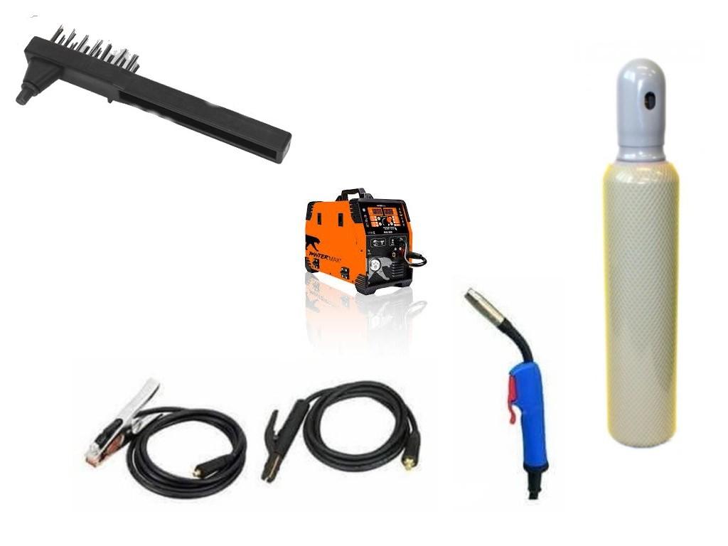 Pantermax 220 Varianta: SET 14: svářečka s výbavou v popisu stroje + lahev CO2 plná PMMIG220/SET14 výhodný SET - další příslušenství ZDARMA