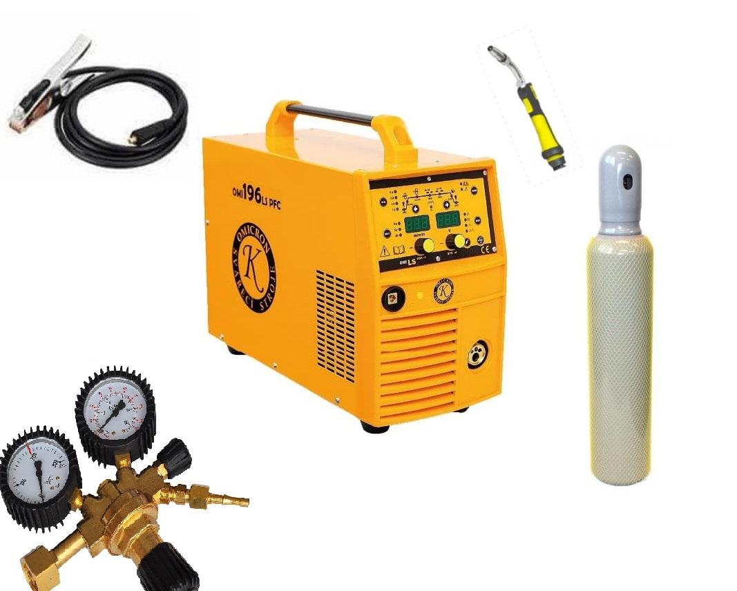 OMI 196LS PFC Synergy Pulz Varianta: SET 20: svářečka s výbavou v popisu stroje + hořák CO2 + RV CO2 + lahev CO2 plná 2863 výhodný SET - další příslušenství ZDARMA