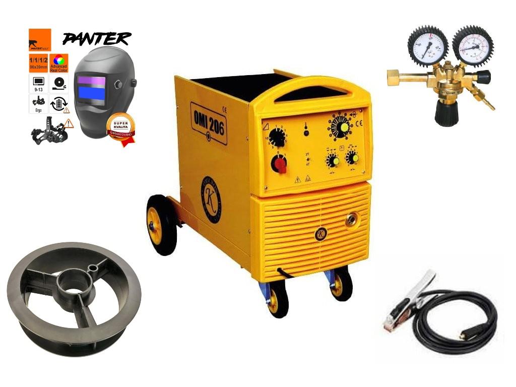 OMI 206 Varianta: SET 8: svářečka s výbavou v popisu stroje + RV CO2 + kukla eco Panter 2679 výhodný SET - další příslušenství ZDARMA