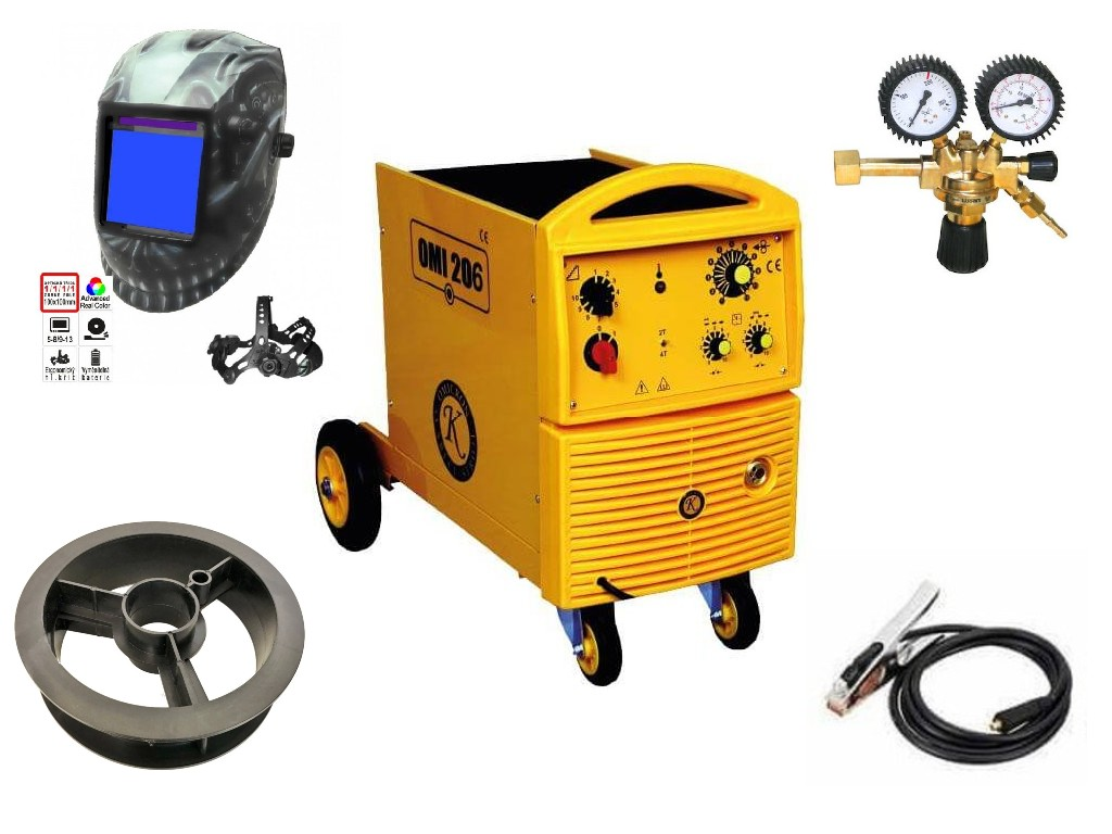 OMI 206 Varianta: SET 10: svářečka s výbavou v popisu stroje + RV CO2 + kukla profi Predátor 2679 výhodný SET - další příslušenství ZDARMA