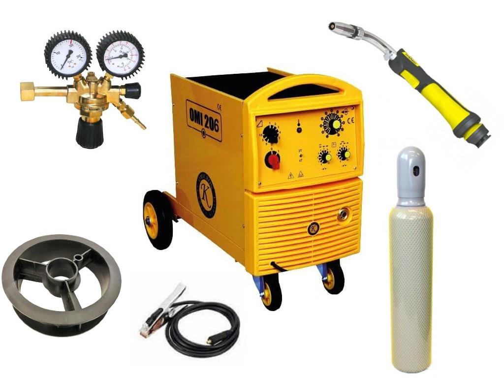 OMI 206 Varianta: SET 20: svářečka s výbavou v popisu stroje + hořák CO2 + RV CO2 + lahev CO2 plná 2679 výhodný SET - další příslušenství ZDARMA