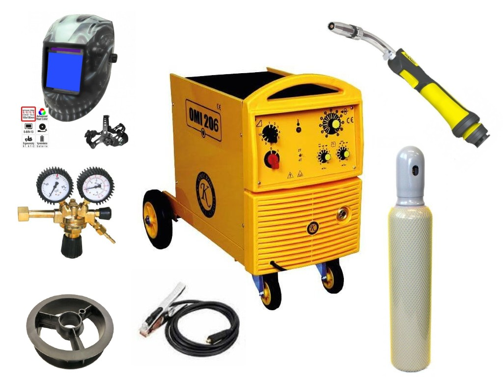 OMI 206 Varianta: SET 37: svářečka s výbavou v popisu stroje + kukla profi Predátor + RV CO2 + hořák CO2 + lahev CO2 2679 výhodný SET - další příslušenství ZDARMA
