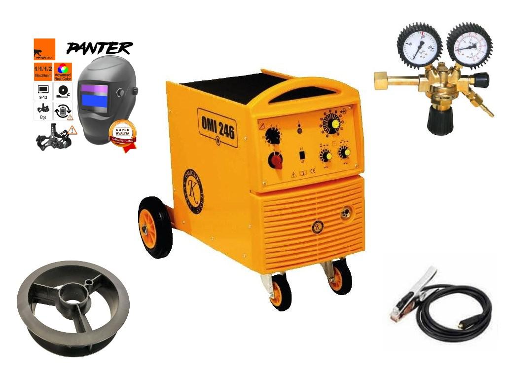 OMI 246 Varianta: SET 8: svářečka s výbavou v popisu stroje + RV CO2 + kukla eco Panter 2794 výhodný SET - další příslušenství ZDARMA