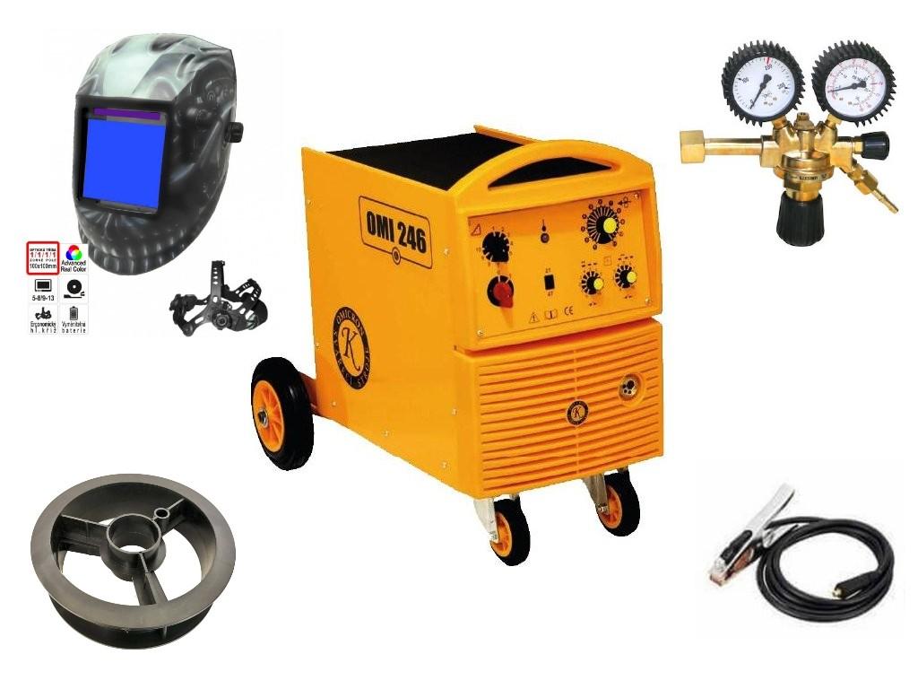 OMI 246 Varianta: SET 10: svářečka s výbavou v popisu stroje + RV CO2 + kukla profi Predátor 2794 výhodný SET - další příslušenství ZDARMA