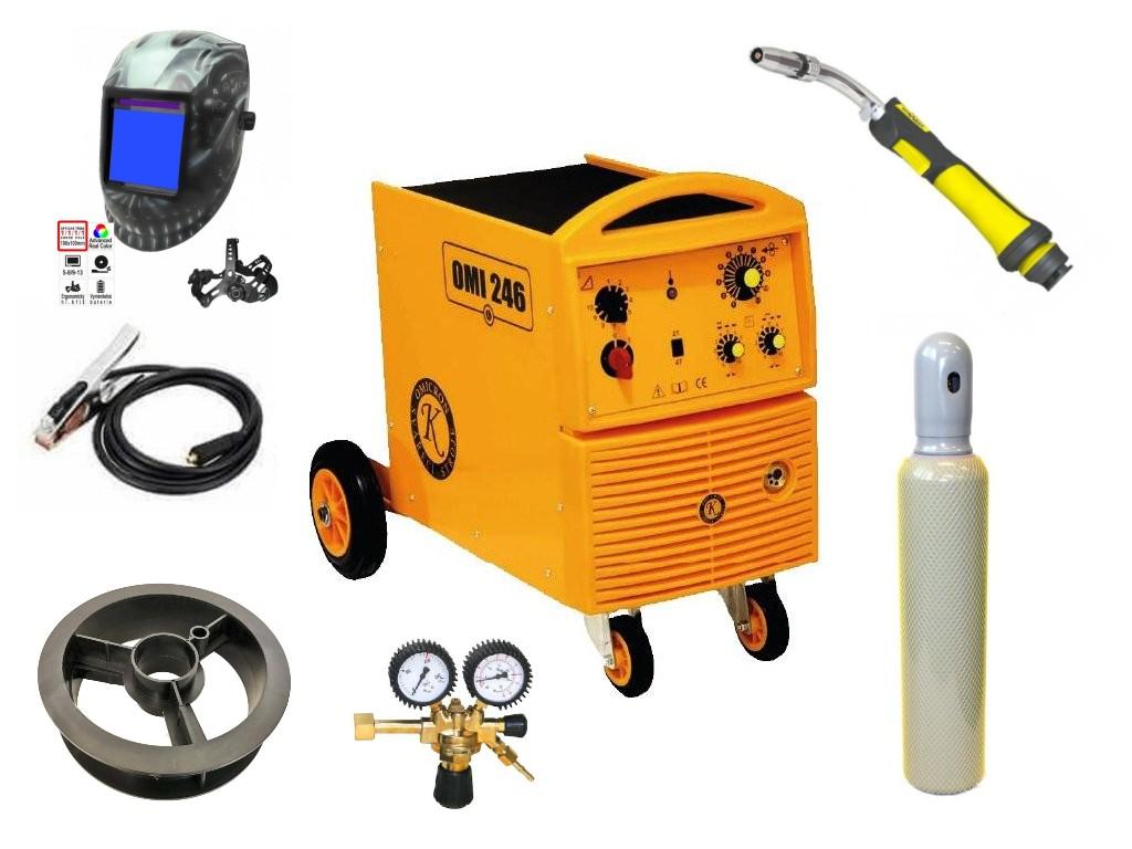 OMI 246 Varianta: SET 37: svářečka s výbavou v popisu stroje + kukla profi Predátor + RV CO2 + hořák CO2 + lahev CO2 2794 výhodný SET - další příslušenství ZDARMA