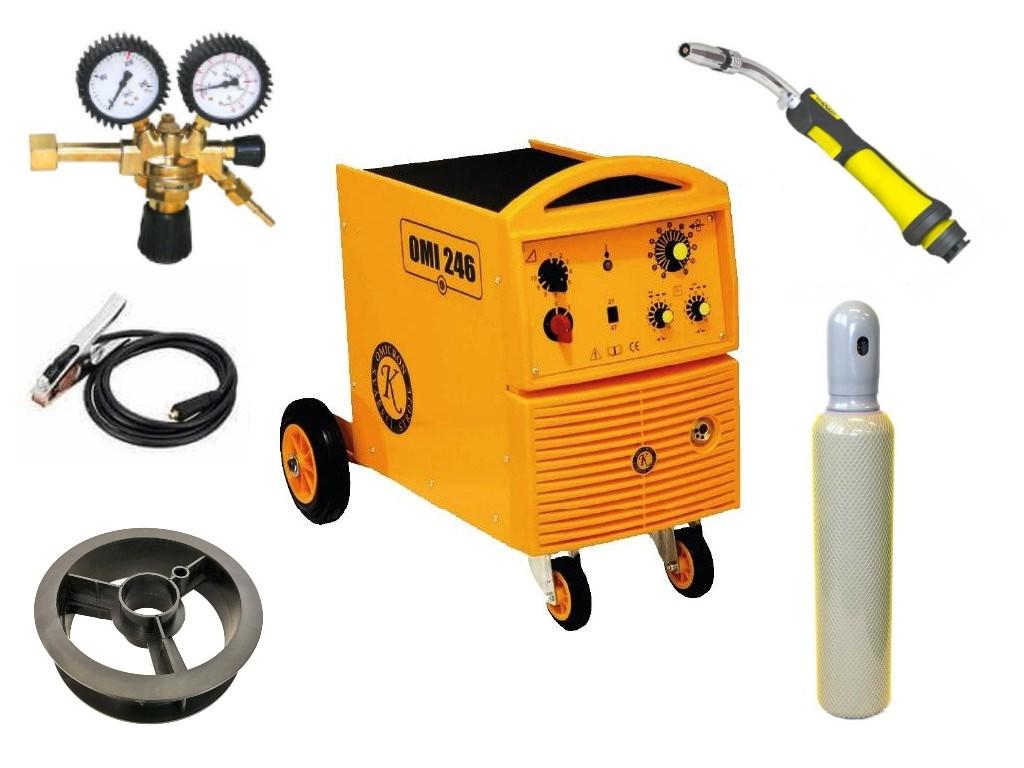 OMI 246 Varianta: SET 20: svářečka s výbavou v popisu stroje + hořák CO2 + RV CO2 + lahev CO2 plná 2794 výhodný SET - další příslušenství ZDARMA