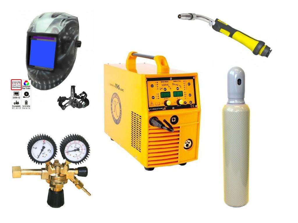 GAMASTAR 196LS PFC Varianta: SET 37: svářečka s výbavou v popisu stroje + kukla profi Predátor + RV CO2 + hořák CO2 + lahev CO2 2844 výhodný SET - další příslušenství ZDARMA