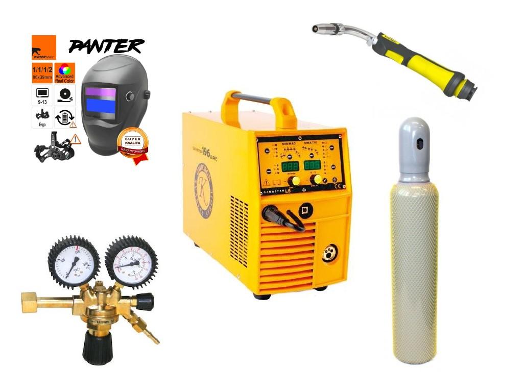 GAMASTAR 196LS PFC Varianta: SET 17: svářečka s výbavou v popisu stroje + kukla eco Panter + RV CO2 + hořák CO2 + lahev CO2 2844 výhodný SET - další příslušenství ZDARMA