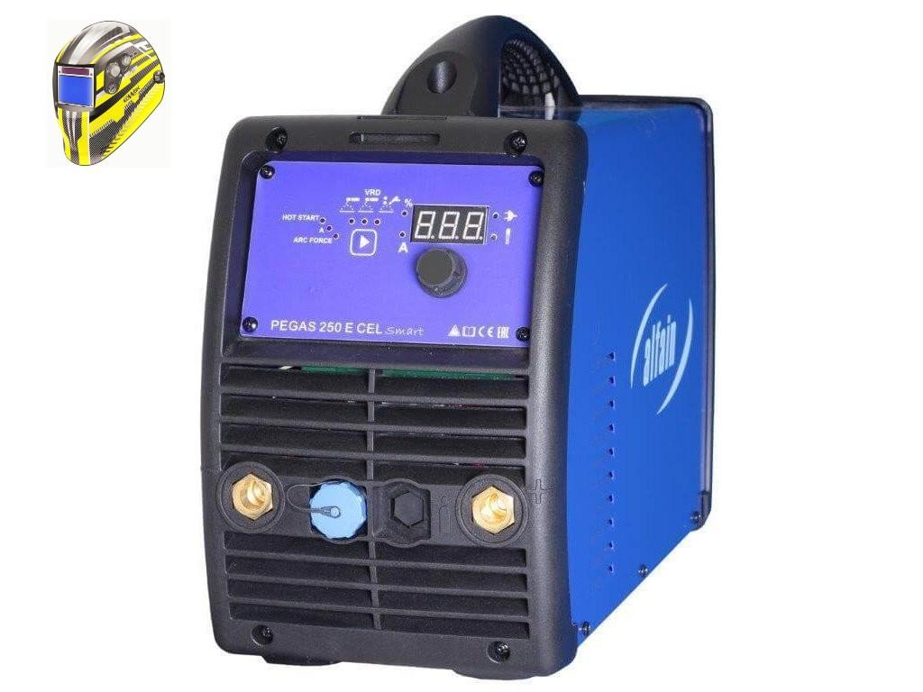 Pegas 250 E CEL smart Varianta: SET 5: svářečka s výbavou v popisu stroje + kukla expert 730ARC++ 5.0287 výhodný SET - další příslušenství ZDARMA