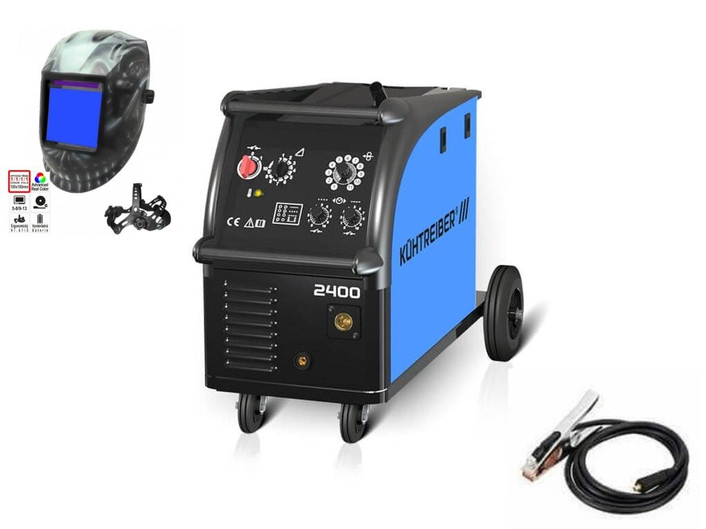 KIT 2400 Varianta: SET 20: svářečka s výbavou v popisu stroje + hořák CO2 + RV CO2 + lahev CO2 plná 51157 výhodný SET - další příslušenství ZDARMA
