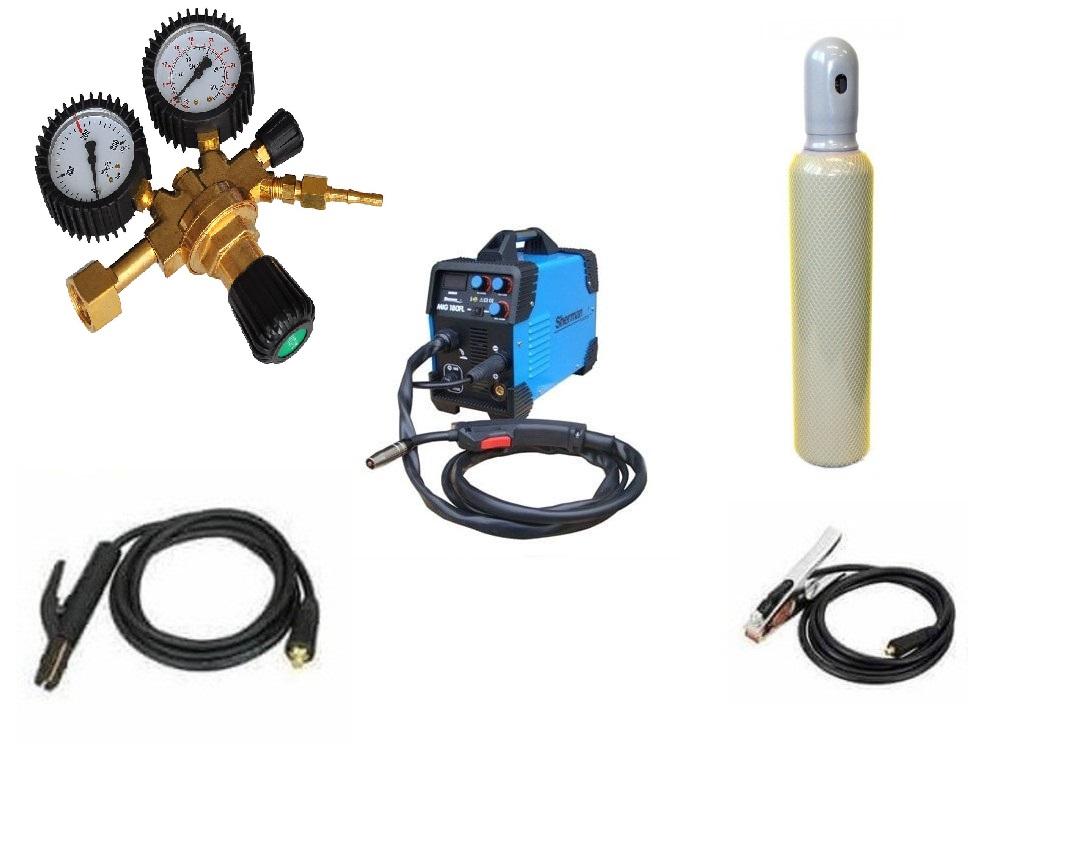 Sherman MIG 180 FL Varianta: SET 21: svářečka s výbavou v popisu stroje + RV CO2 + lahev CO2 plná MG7812241 výhodný SET - další příslušenství ZDARMA