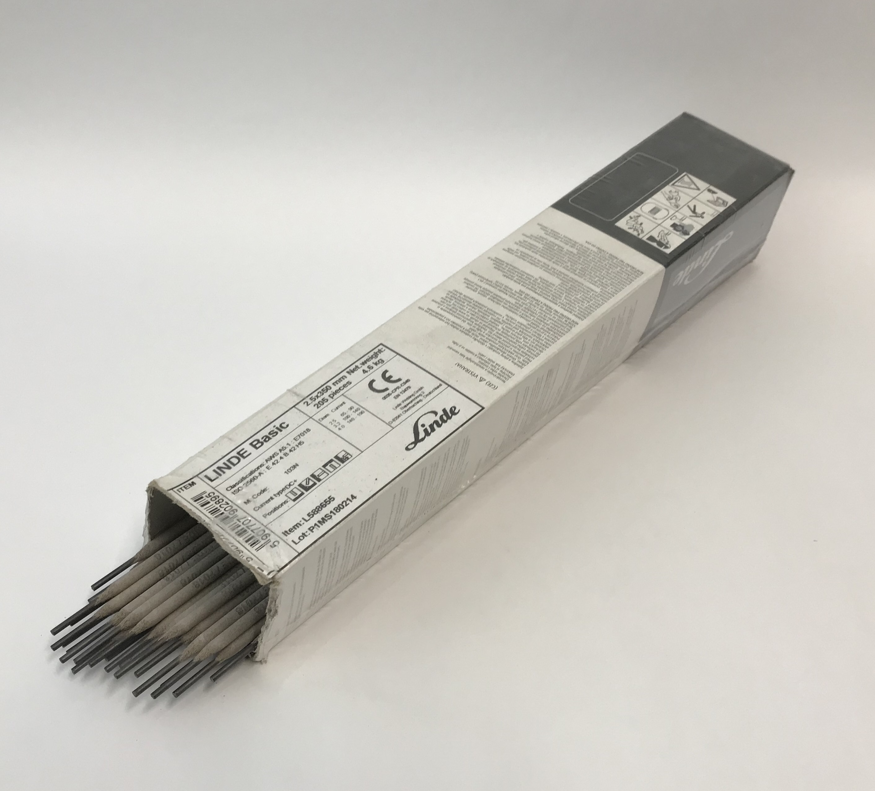 Elektrody BASICKÉ 7018, Ǿ 2.5 - 3.2 mm x 350 mm Linde Gas® Kus: 2,50 mm
