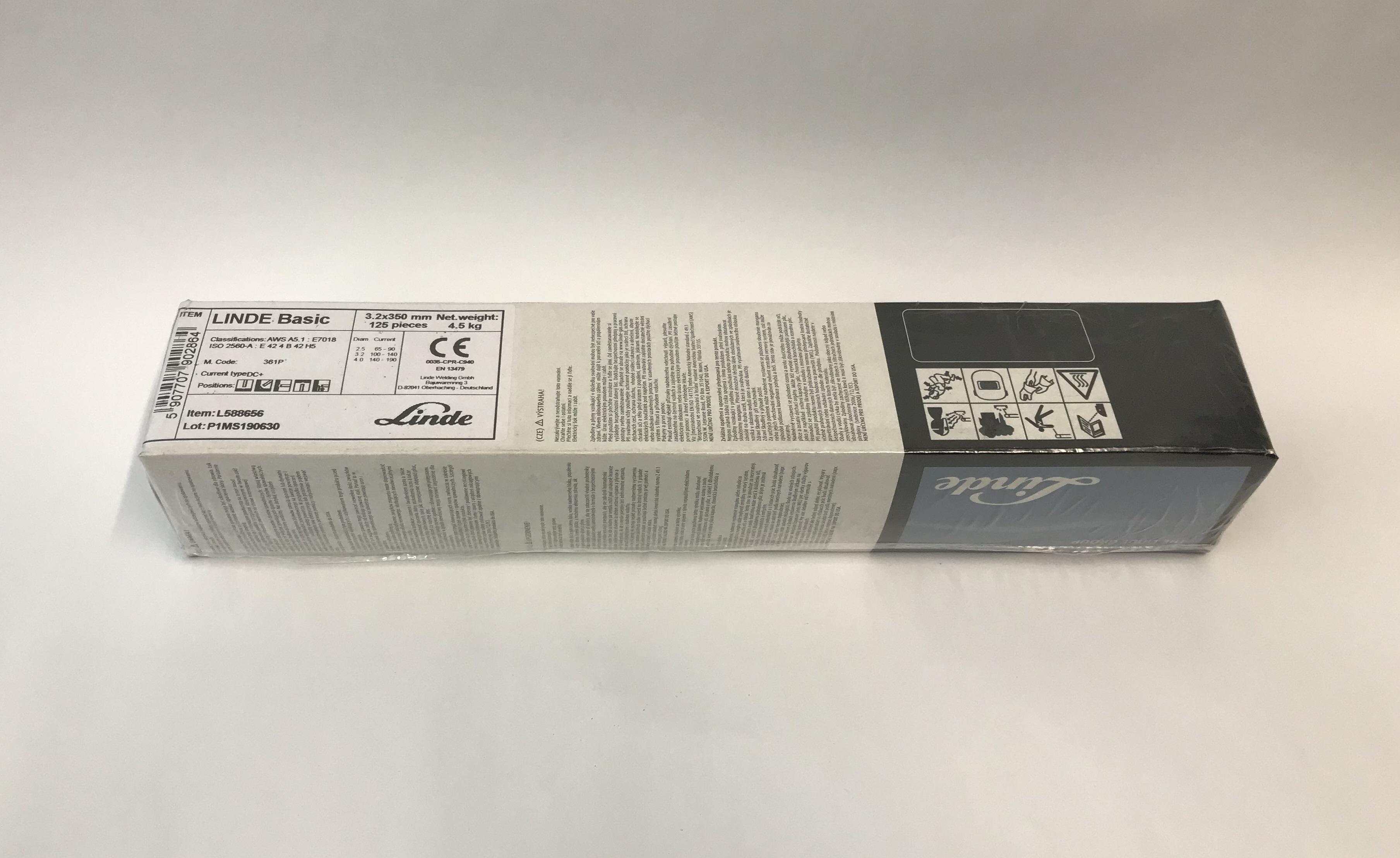 Linde Gas Elektrody BASICKÉ 7018, Ǿ 2.5 - 3.2 mm x 350 mm Balení:: 3,20 mm 7280765 nejlevnější svářecí bazické elektrody