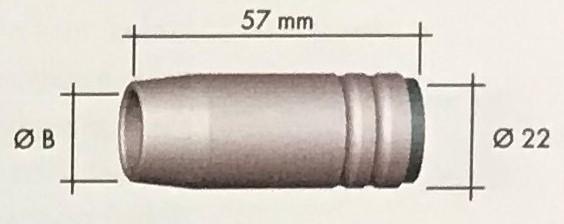 Abicor Binzel Náhradní díly hořák CO2 150A Díly hořák CO2 150A: Hubice Kónická MB25 B=15