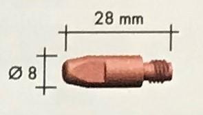 Abicor Binzel Náhradní díly hořák CO2 150A Díly hořák CO2 150A: Průvlak masiv M6 0,8