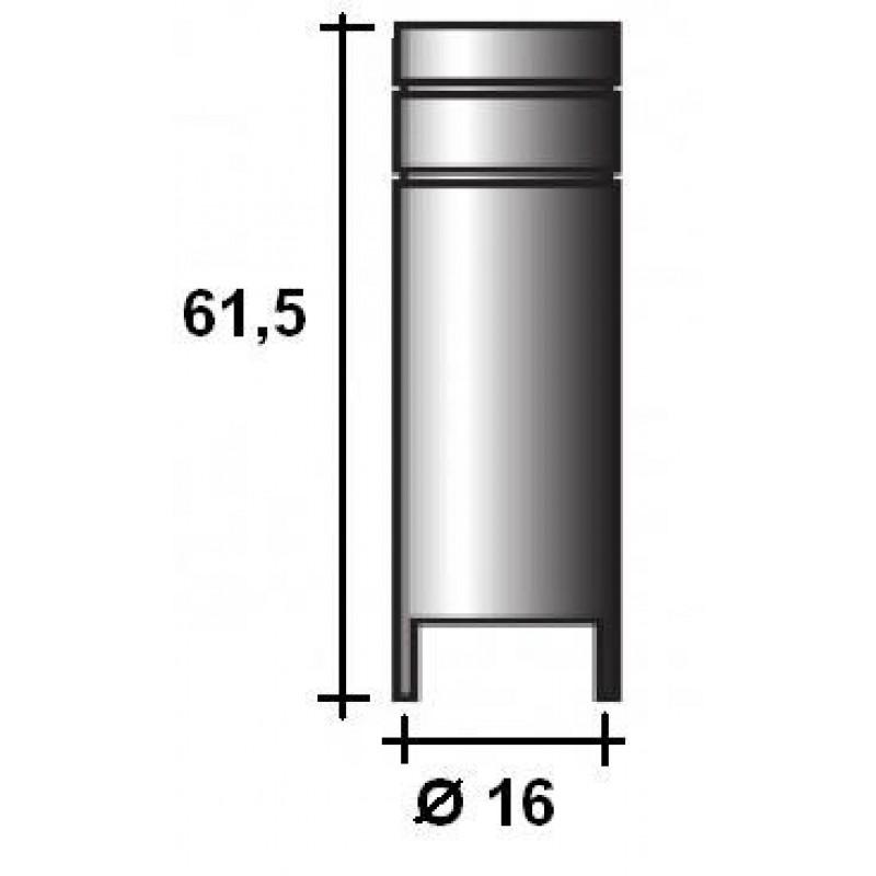 Abicor Binzel Náhradní díly pro svářecí hořák CO2 150A Díly hořák CO2 150A: Bodovací hubice MB15 145.0168