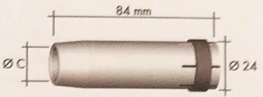 Abicor Binzel Náhradní díly hořák CO2 240A Díly hořák CO2 240A: Hubice Kónická MB 36 C=16