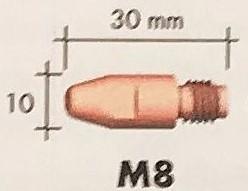 Abicor Binzel Náhradní díly hořák CO2 240A Díly hořák CO2 240A: Průvlak masiv M8 0,8