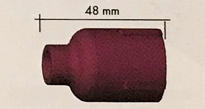 Abicor Binzel Náhradní díly hořák TIG 9, 20 A Díly hořák TIG 9, 20A: Keramická hubice Jumbo č.6