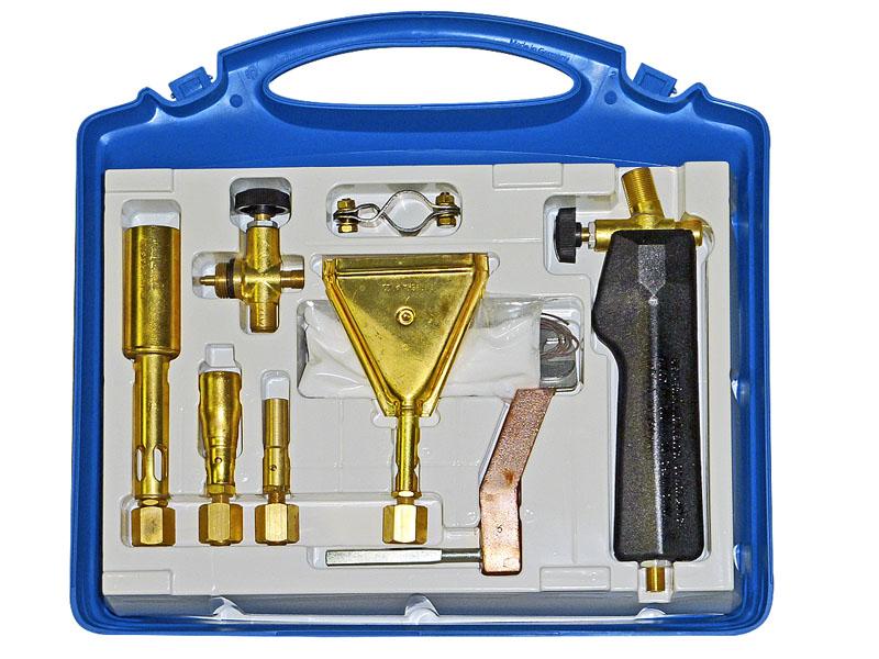 MEVA Pájecí a opalovací souprava Propan-butan - kufr 2192A pro připojení k 2 kg lahvi Propan - butan