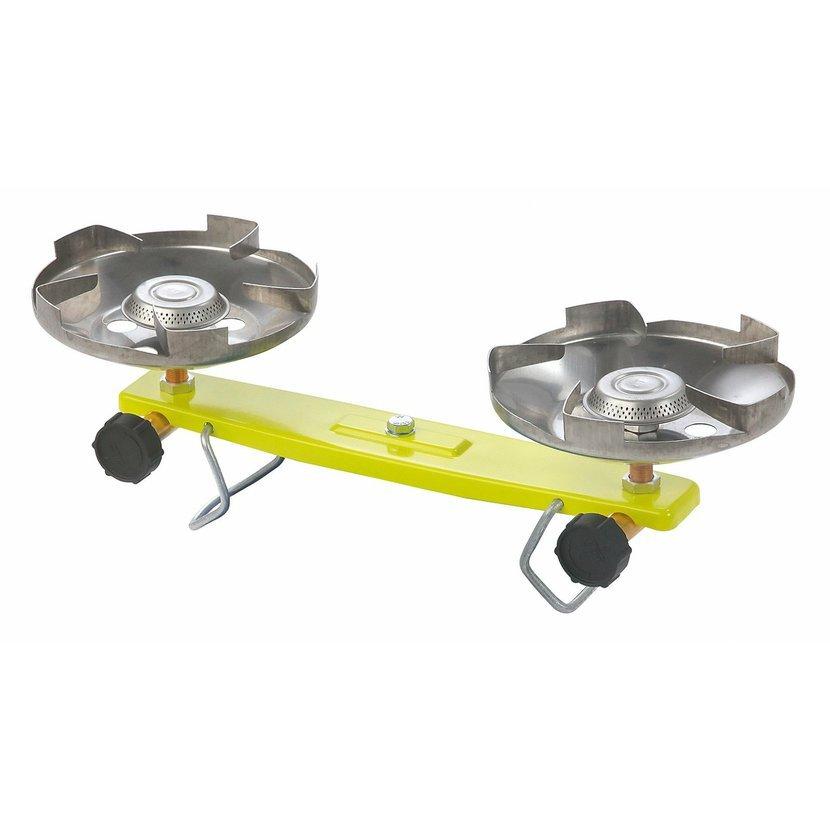 MEVA Vařič plynový - 2 plotýnky na propan-butan vařič na propan-butan lahev 2 kg - dvouplotýnkový