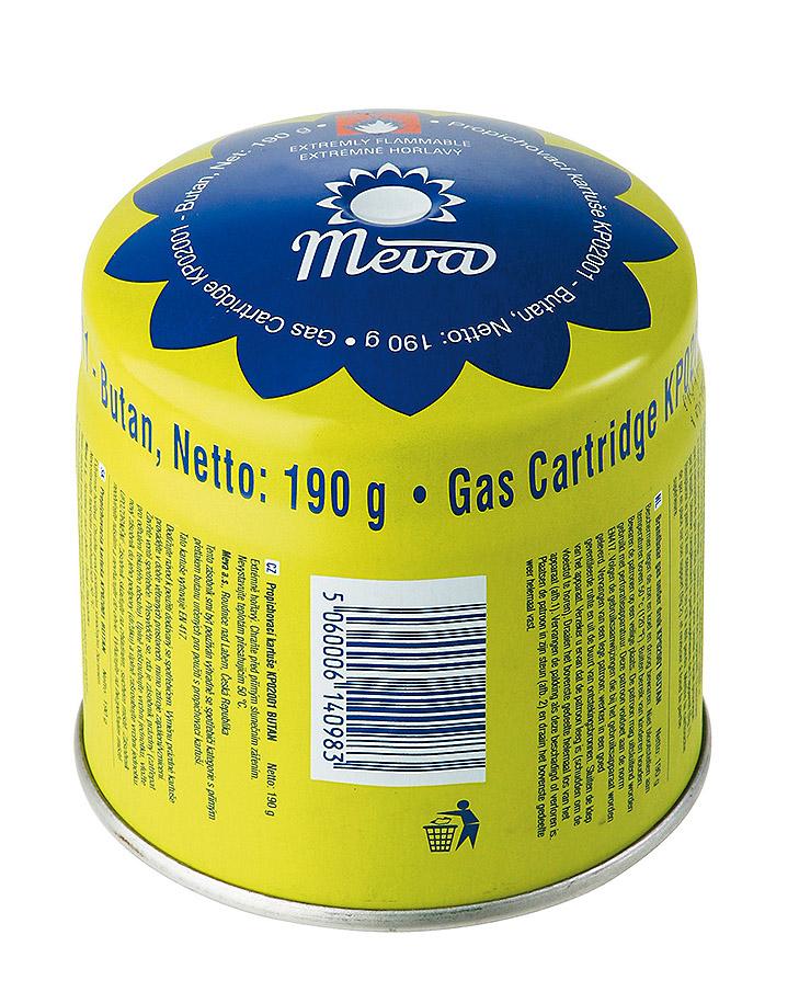 MEVA Kartuše plynová směs Propan-butan 190g kartuše na jedno použití - neplnitelná