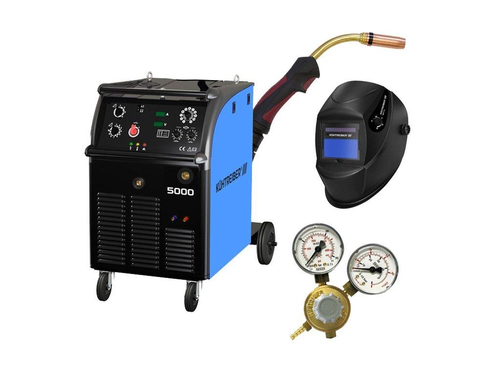 Svařovací stroj KIT 5000 W 4-kladka + hořák 4m + ventil + samozatmívací kukla